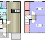鴨川市横渚 貸アパート【ハイペアレジデンス】103号室間取