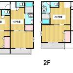 1DK 全6世帯のアパート