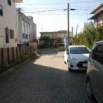 鴨川市横渚 店舗兼住居_建物から接道道路方面を望む