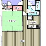 鴨川市前原 海が目の前のマンション 2LDK2階(間取)