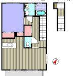 居室は2階で玄関が1階にある間取