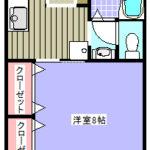 鴨川市和泉【和泉荘】102号室間取